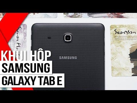 FPT Shop - Khui Hộp Samsung Galaxy Tab E: Màn Hình 9.6