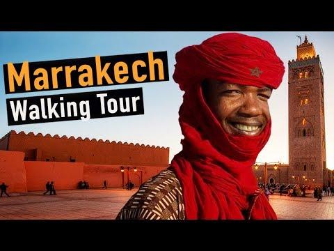 Marrakech Walking Tour — Morocco Video Walk【4K】🇲🇦