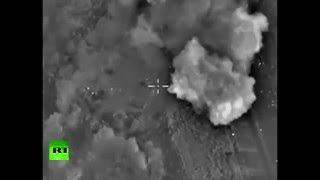 Combat cam: Russian Air Force target ISIS training camp in Syria