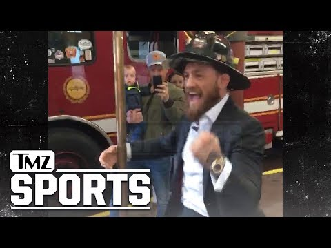 Conor McGregor Hooks Up Boston Firefighters With World Series Tickets!! | TMZ Sports