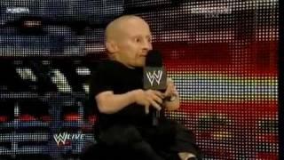 Verne Troyer WWE RAW Arranged Match Between The Miz Vs Mark Henry