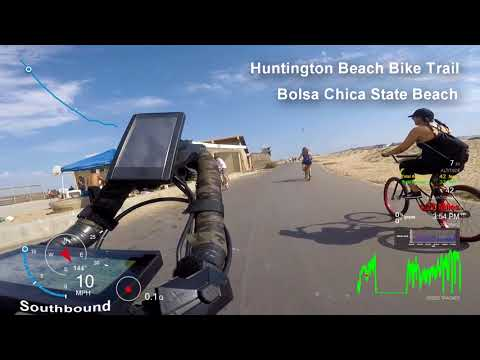 California @ 20mph - Southbound - Huntington Beach Bike Trail - Huntington Beach - eBike Tour