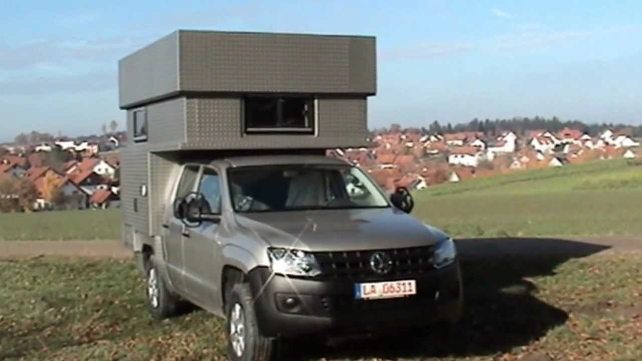 vw amarok mit expedition cabin youtube. Black Bedroom Furniture Sets. Home Design Ideas