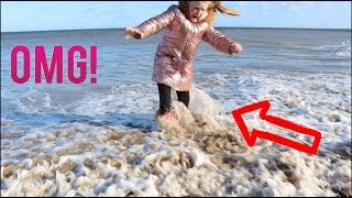ACCIDENT AT THE BEACH!