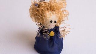 Игрушка-кукла своими руками: Miadolla - прически для куколки, кудрявые волосы.