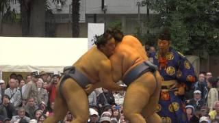 20160418 靖國神社奉納相撲 隠岐の海vs碧山.