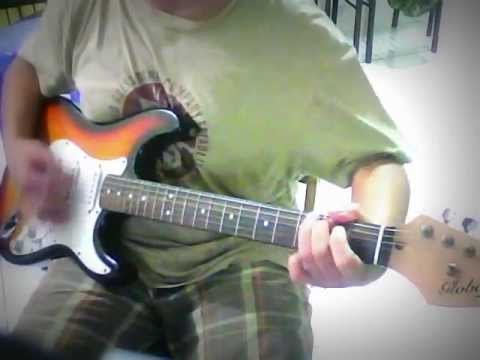rolling on the river CCR Guitar cover played on global strat guitar ...