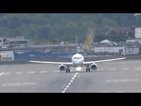 Brussels Airlines Sukhoi Superjet 100 Takeoff from Stockholm Bromma Airport BMA