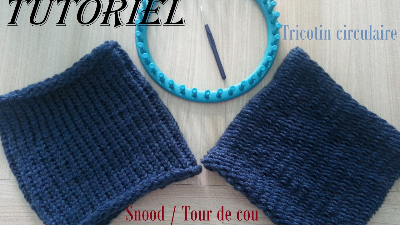 tuto 1 snood tour de cou facile au tricotin circulaire youtube. Black Bedroom Furniture Sets. Home Design Ideas