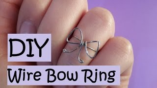DIY Wire Bow Ring | 7 Easy Steps
