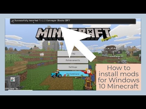 How To Install Mods For Minecraft Windows 10 Edition (easy).