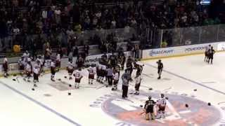 Bench Clearing brawl at FDNY NYPD Hockey Game 2014