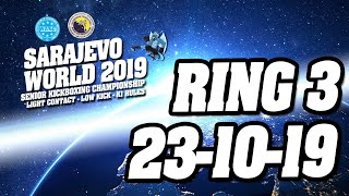 WAKO World Championships 2019 Ring 3 23/10/19