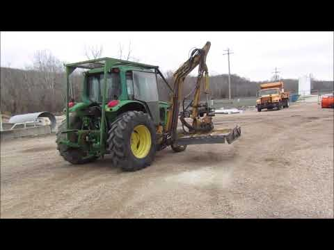 2002 John Deere 6420 tractor with side boom mower for sale | no-reserve  auction April 17, 2018