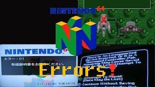 Nintendo 64 All Errors! + forgotten Wii U error (REUPLOAD)