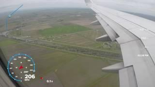 Landing at Sacramento international airport 4/2017