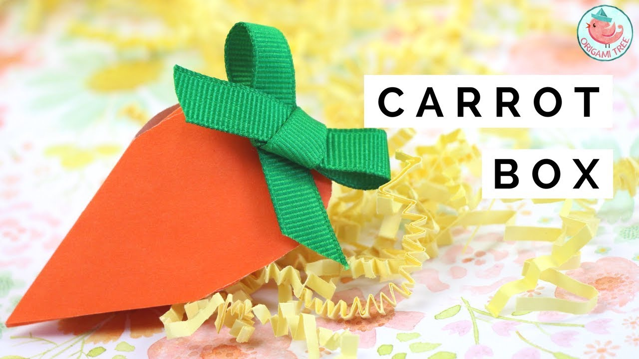 Easter crafts paper carrot gift box diy paper candy box for easter crafts paper carrot gift box diy paper candy box for easter baskets negle Image collections