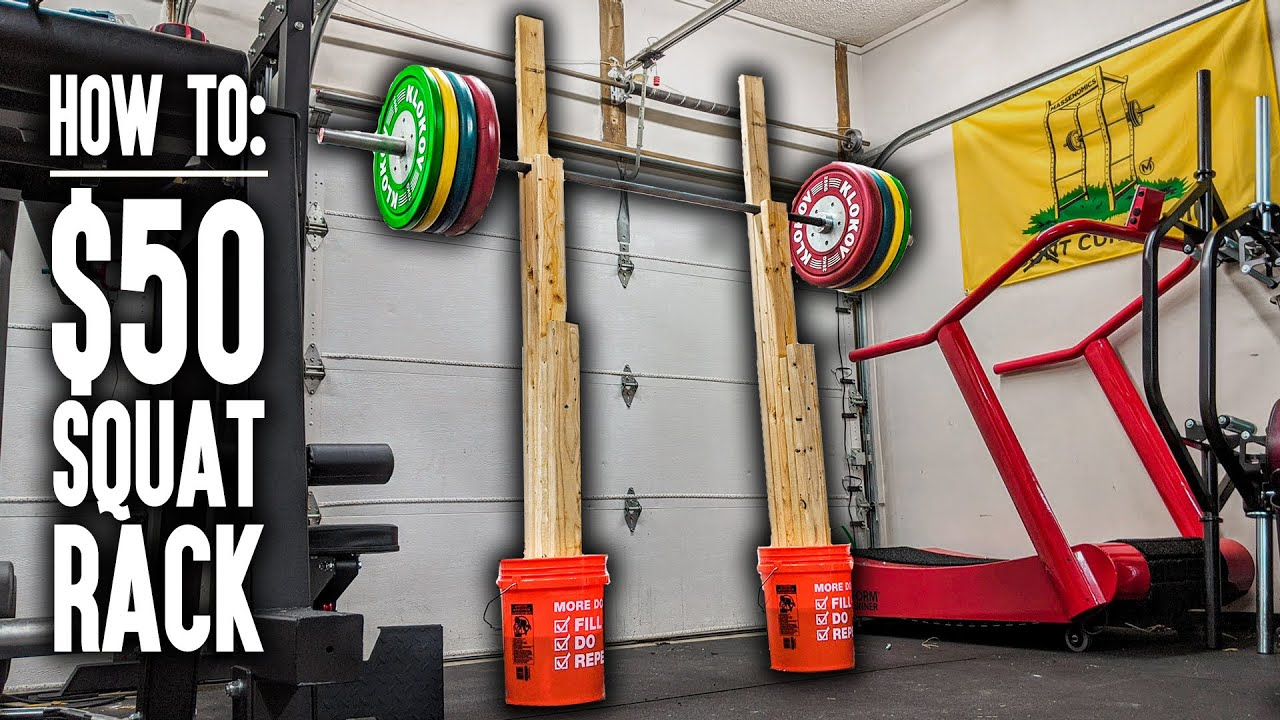 how to diy squat rack bench press rack for 50