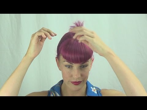 How I Trim My Bettie Bangs With Sellotape