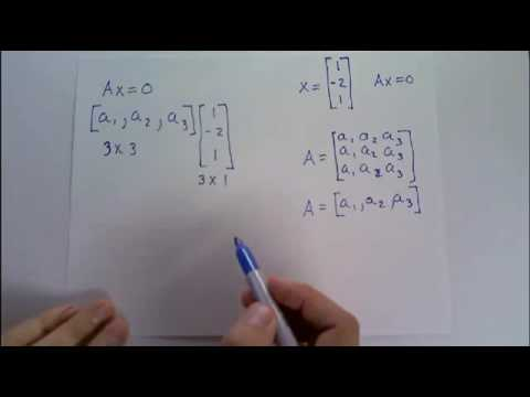 Construct a 3x3 nonzero matrix A such that the vector [1; -2; 1] is a solution of Ax=0