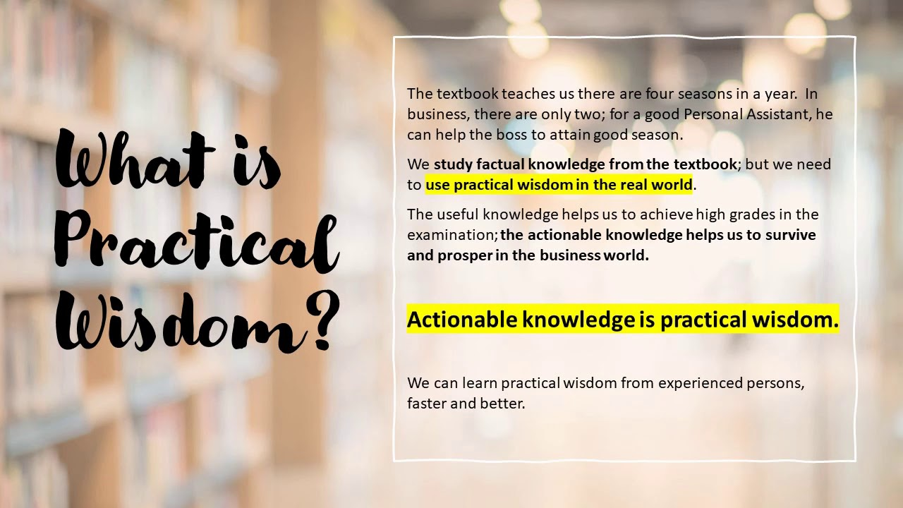 What is Practical Wisdom? - YouTube