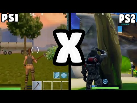 FORTNITE PS1 VS PS2