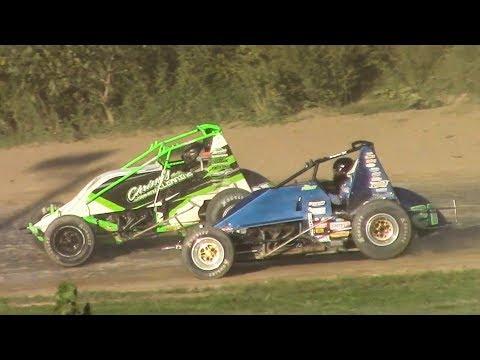 RUSH Sprint Car Heat Two | Genesee Speedway | 9-16-18