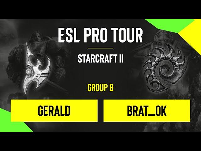 SC2 - Gerald vs. Brat_OK - DH SC2 Masters - Summer 2020 - Group B - EU