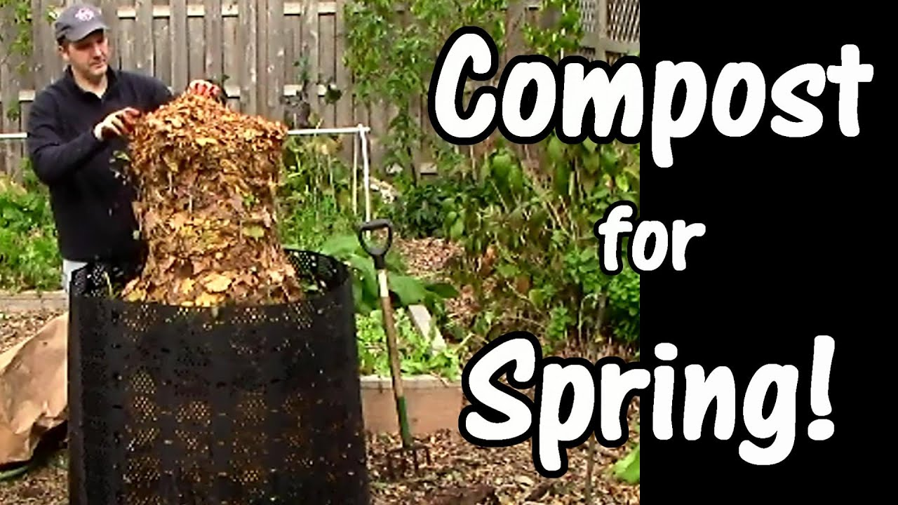 Compost for Spring Leaves Used Coffee Grounds Garden Waste