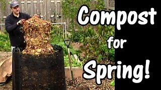Compost for Spring: Leaves, Used Coffee Grounds, & Garden Waste (Leaf Compost)