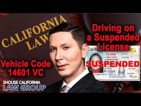 Vehicle Code 14601 VC: A former D.A. explains