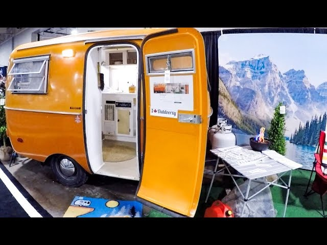 Boler Wandervogel Trailer look Inside of Old Classic Travel Trailer