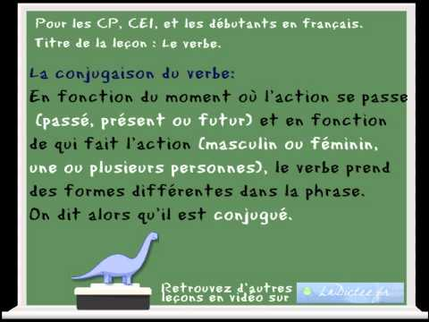 Le Verbe Lecon De Francais Pour Les Cp Et Les Ce1 Fle French Learning Youtube
