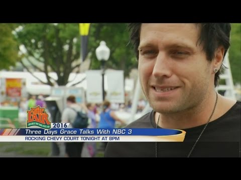 WSTM NBC3 Megan Coleman interviews Matt Walst of Three Days Grace