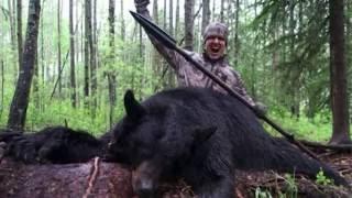 Gambar cover un cazador estadounidense mata con una lanza a un oso en canada