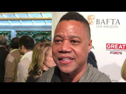 Cuba Gooding, Jr. ('The People v. O.J. Simpson') on the 2017 BAFTA tea party red carpet