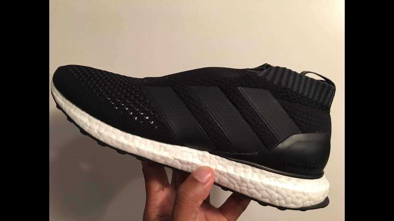 Adidas Women Running Ultra Boost Shoes In Core Black/Dark Grey