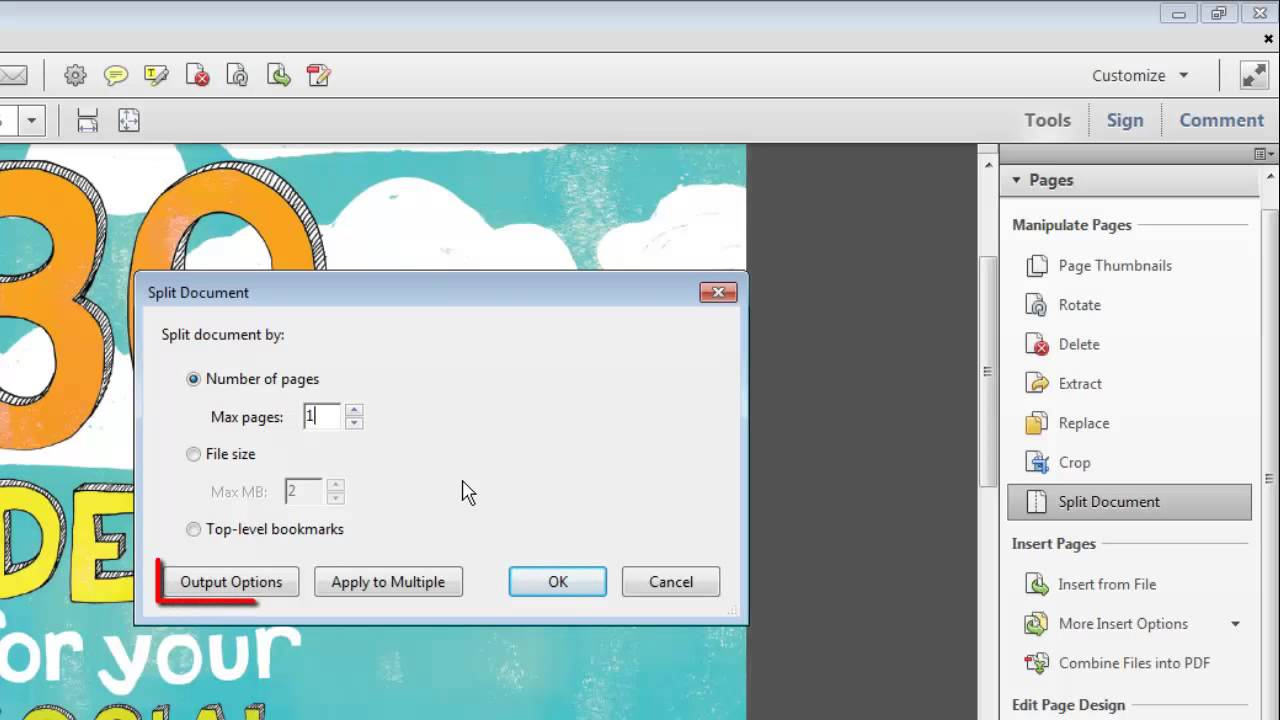 How to split a PDF file into several parts: the simplest methods