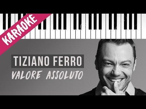 Tiziano Ferro | Valore Assoluto // Piano Karaoke con Testo
