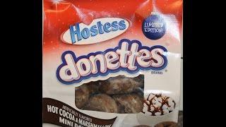 Hostess Donettes: Hot Cocoa & Marshmallow Mini Donuts Review