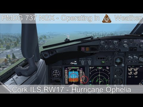 PMDG 737 NGX - REAL BOEING PILOT - Operating in Adverse Weather (Hurricane Ophelia)