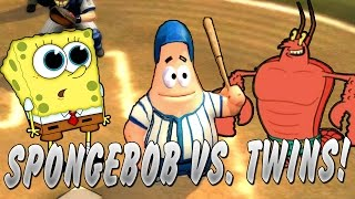 CAN THE SPONGEBOB SQUAREPANTS CAST BEAT THE TWINS?! Nicktoons MLB Knockout Gameplay