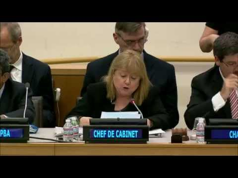 Susana Malcorra (Chef de Cabinet), Report of the Secretary-General related to UNMEER