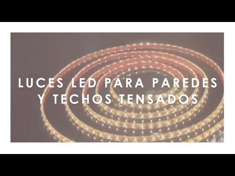Luces led para paredes y techos tensados youtube for Luces led a pilas para armarios