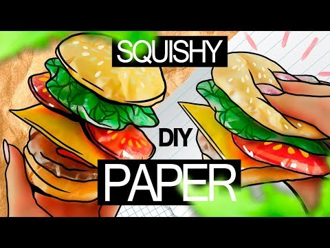Easy DIY - PAPER SQUISHY BURGER 🍔