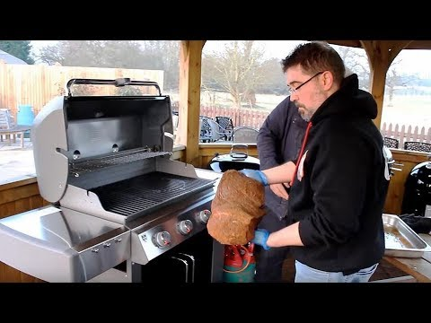 Preparing And Cooking Brisket on Both Weber® Gas & Traeger P