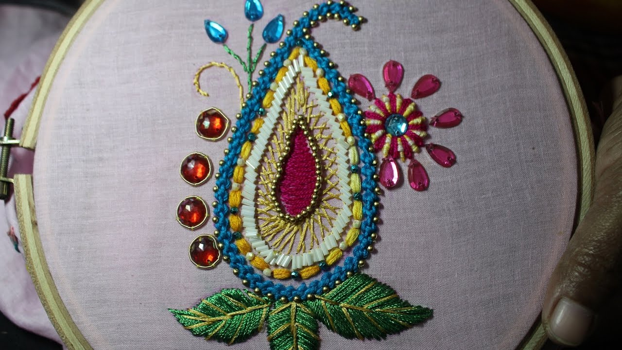 Hand embroidery designs design for dresses stitch and