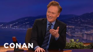 Conan Gets Annoyed By Technical Difficulties