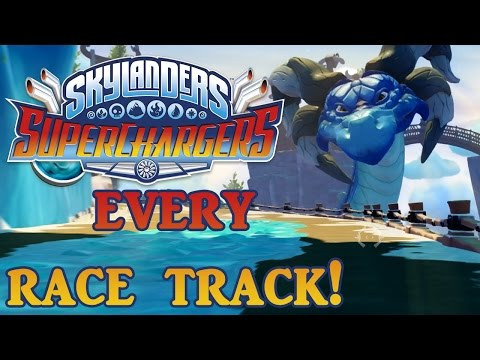 SKYLANDERS SUPERCHARGERS - EVERY RACE TRACK ONLINE AT LAUNCH!