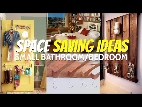 10 Space Saving ideas small bathroom and bedroom